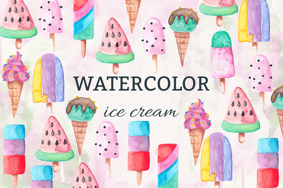 Watercolor Icecream