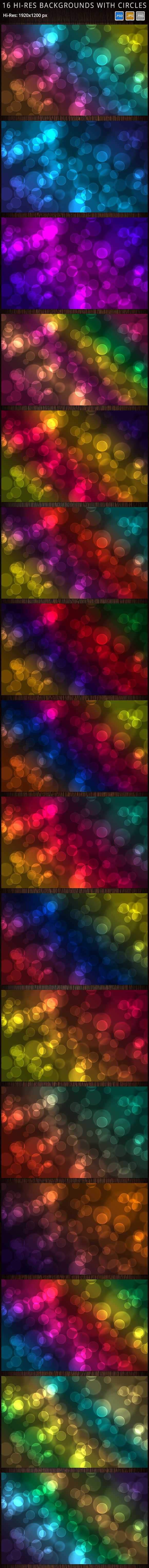 16 Hi-Res Bokeh Effect Backgrounds
