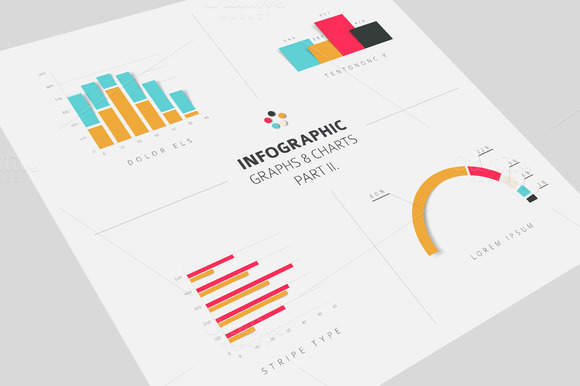 Infographic Graphs Charts Flat 2
