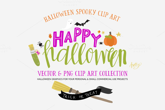 Halloween Vector Clip Art Drawings