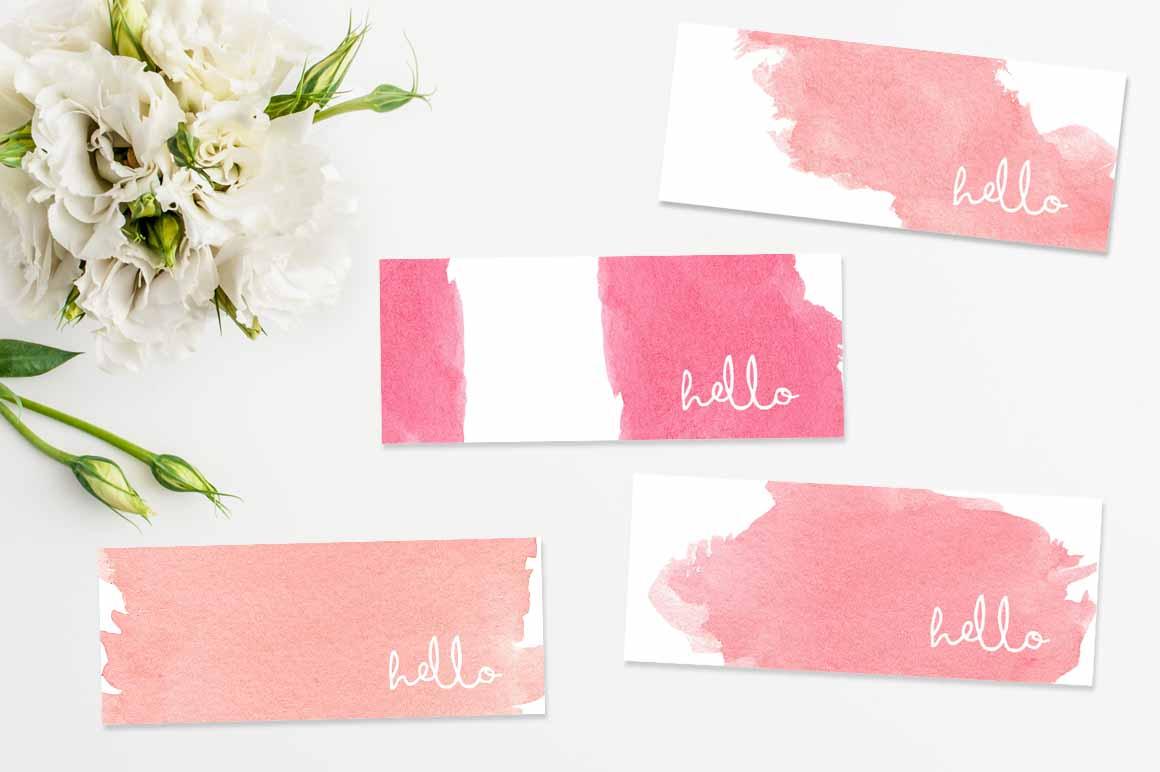 feminine mini business cards bundle
