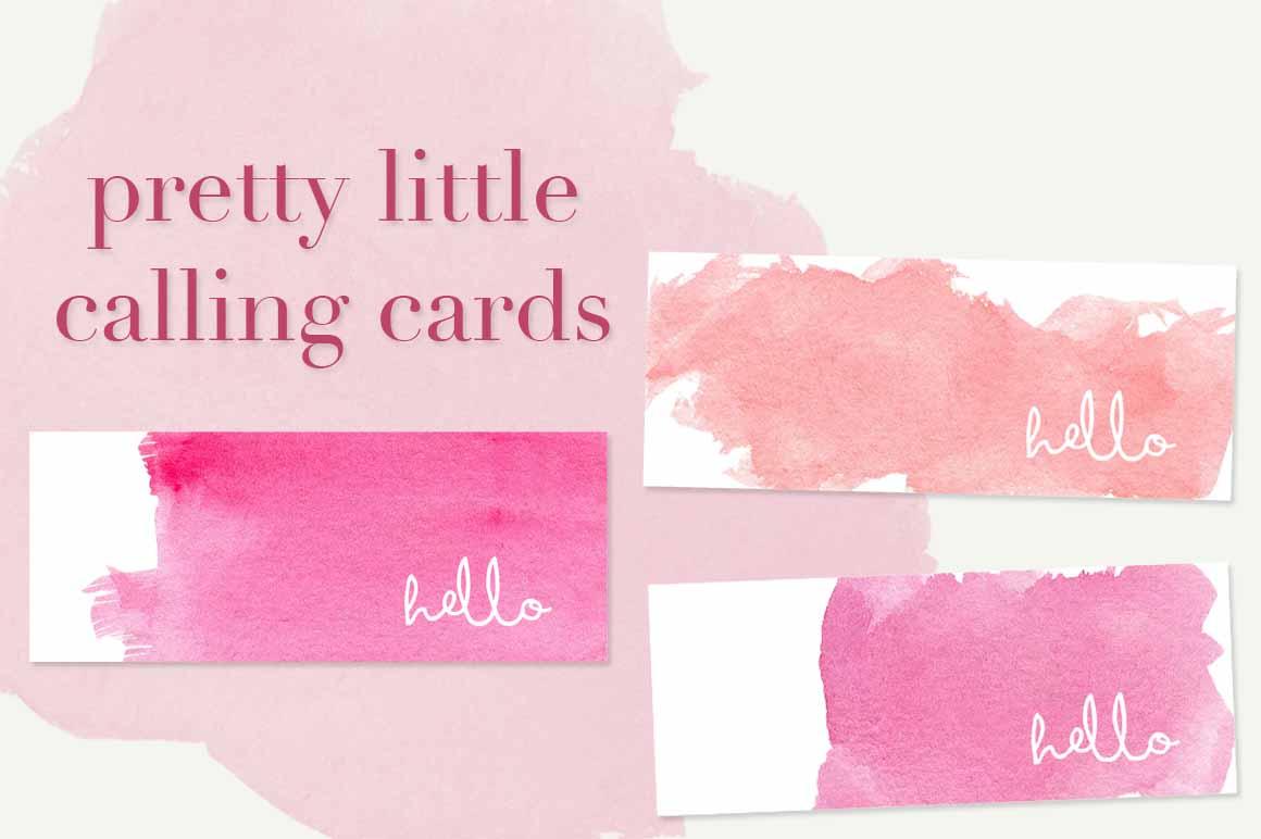 Feminine mini business cards bundle business card for Feminine business cards