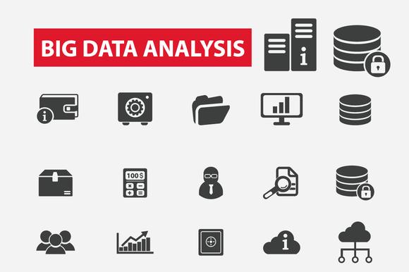Big Data Analysis Icons