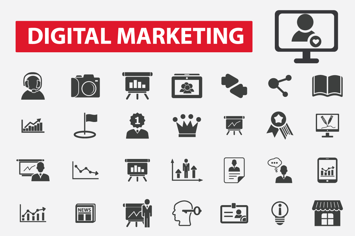 Bootstrap icon set phpsourcecode net for Digital marketing materials
