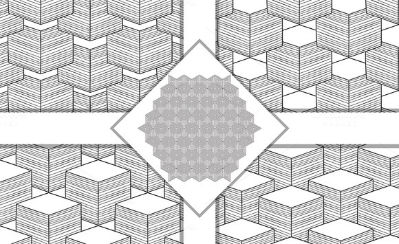 Vector Seamless Geometric Patterns A