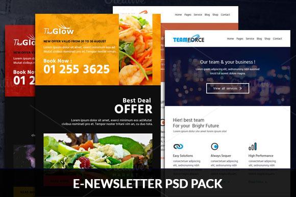 E-newsletter PSD Pack