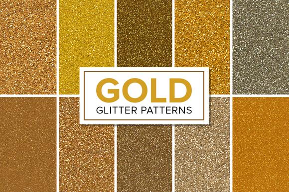 Gold Glitter Patterns