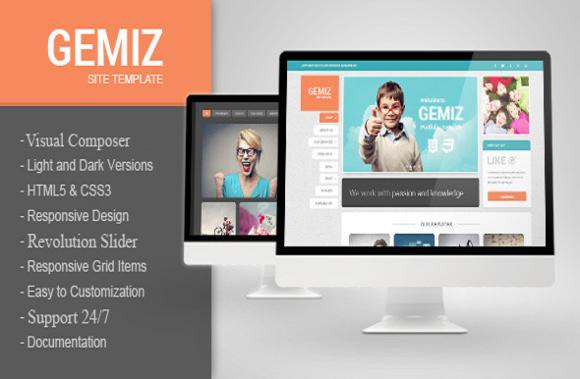 Gemiz Portfolio WordPress Theme