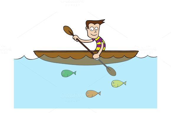 Man On Rowboat
