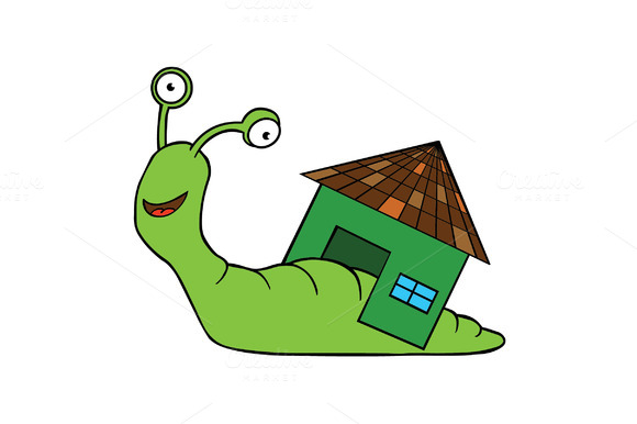 Snail With Home