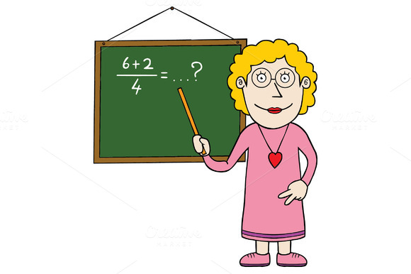 Female Mathematic Teacher
