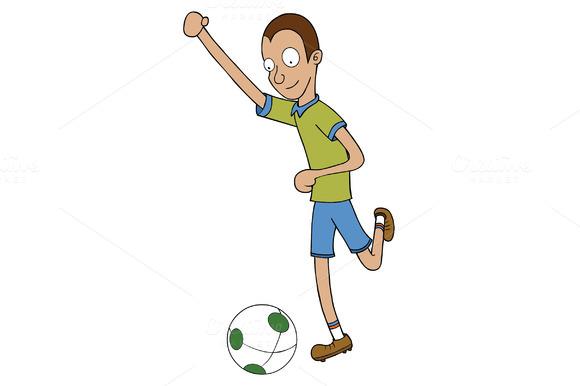 Football Player Ready To Kick