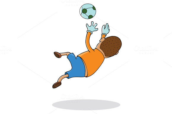 Football Player-Keeper In Action