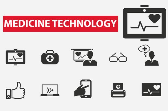 Medicine Technology Icons