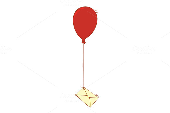 Balloon And Letter