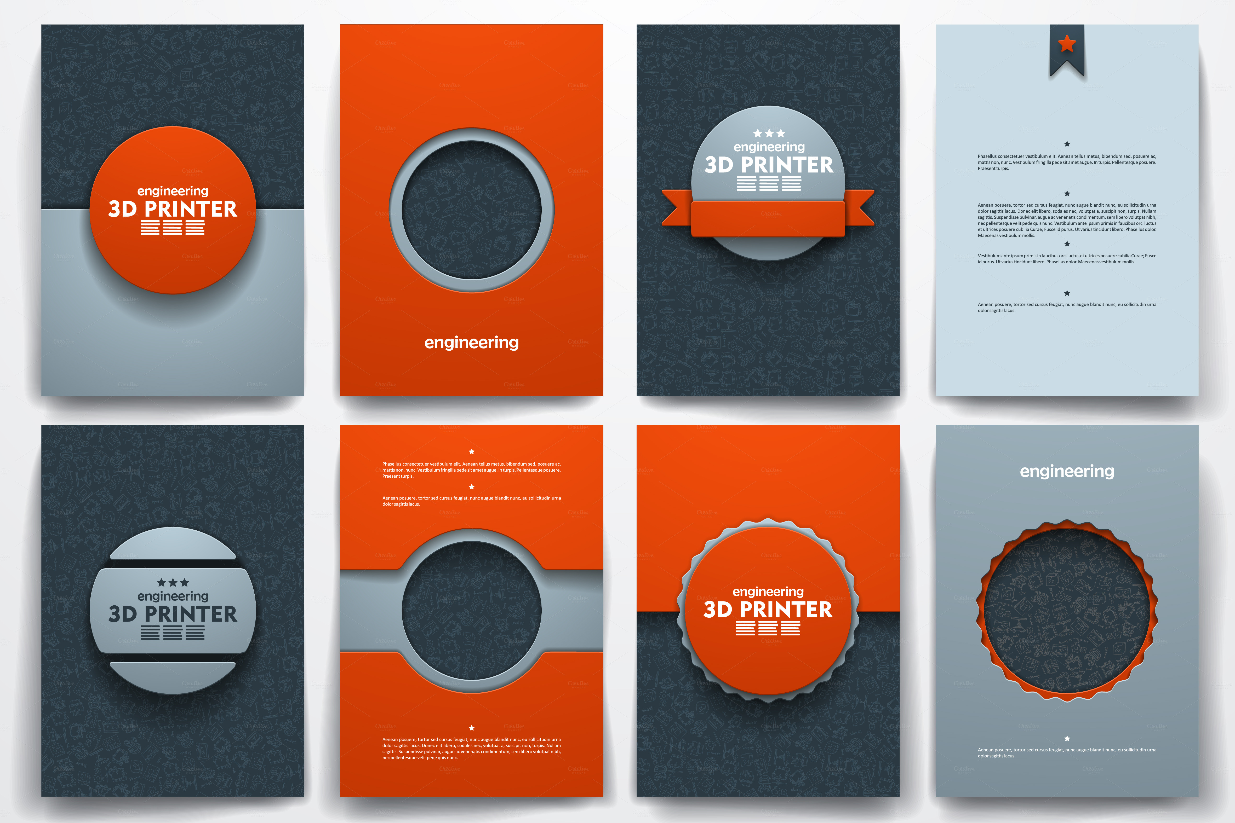 3d brochure design - templates on 3d printer theme brochure templates on