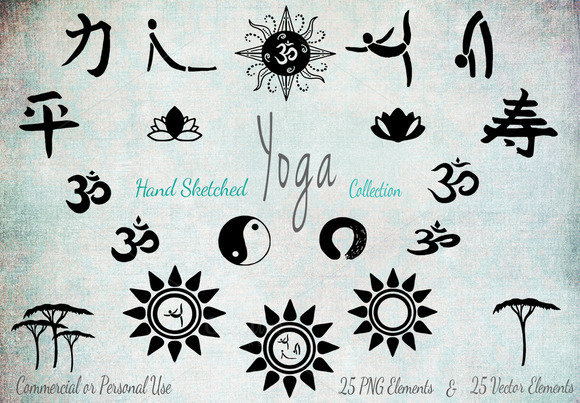 Yoga Background Papers Elements