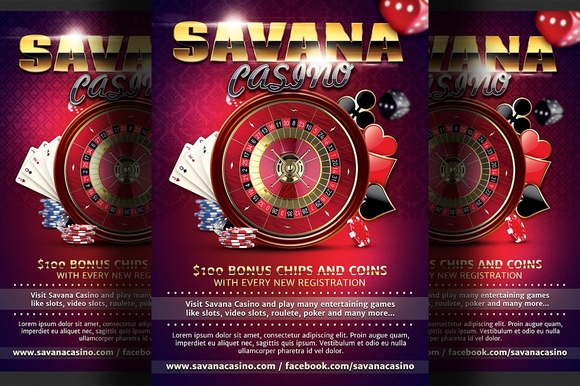 Casino Ad Flyer Template Flyer Templates On Creative Market