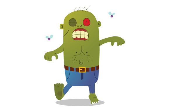 Walking Green Zombie