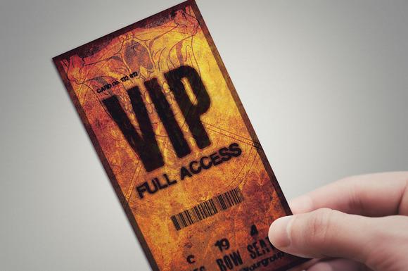 Halloween VIP PASS Card