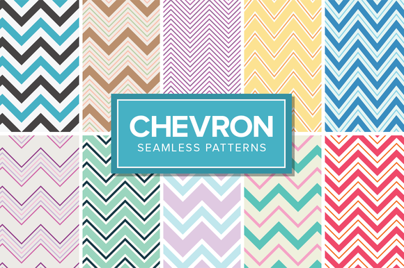 14 Chevron Patterns Seamless