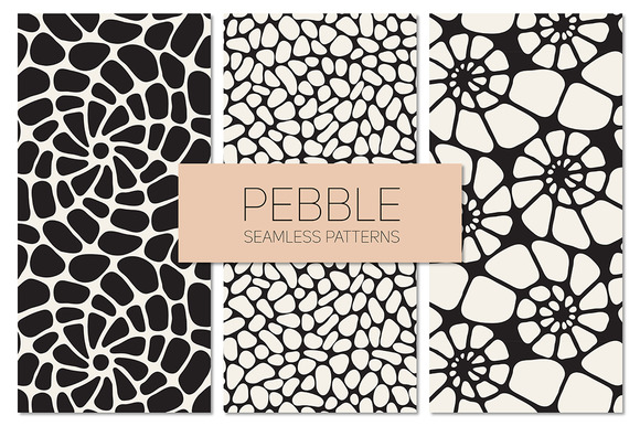 Pebble Seamless Patterns Set