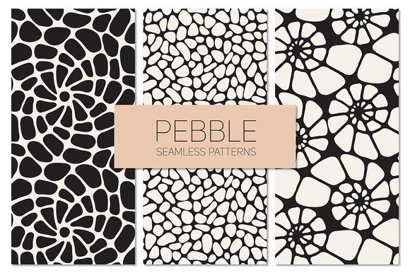 Pebble. Seamless Patterns Set - Patterns