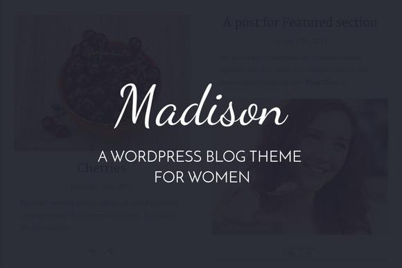 Madison WordPress Theme For Women