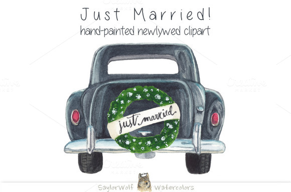 Just Married Old Fashioned Honeymoon