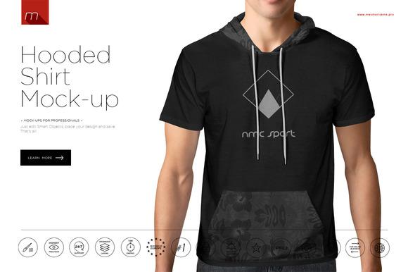 Hooded T-Shirt Mock-up