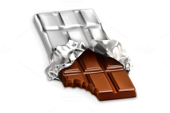 Bitten Chocolate Illustration