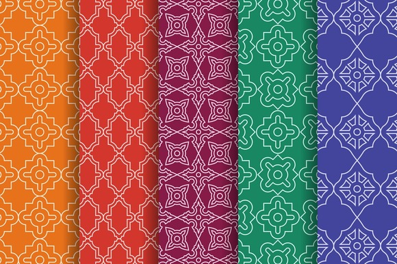 Arabic Geometric Seamless Patterns