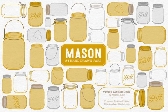 Mustard Jar Vectors Clipart