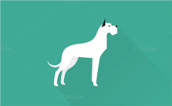Great Dane Dog Icon