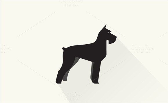 Miniature Schnauzer Dog Icon