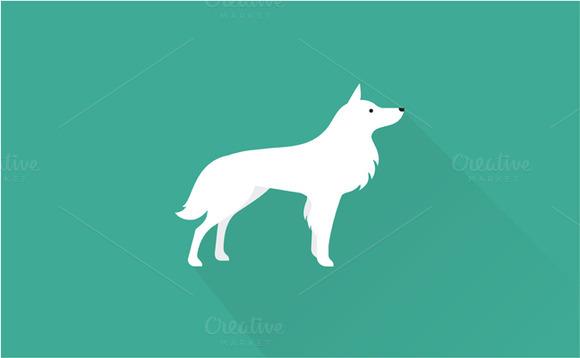 White Dog Icon