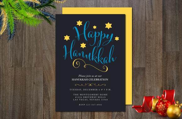 Happy Hanukkah Invitation