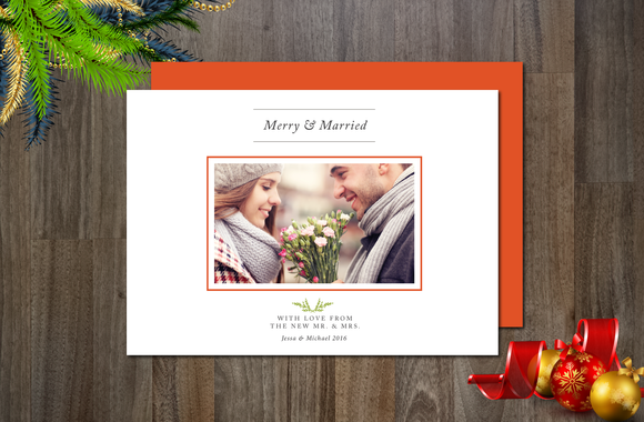 Merry Married Photo Card