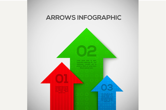 3D Infographic with arrows. Vector. - Graphics