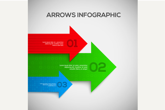 3D Infographic With Arrows Vector