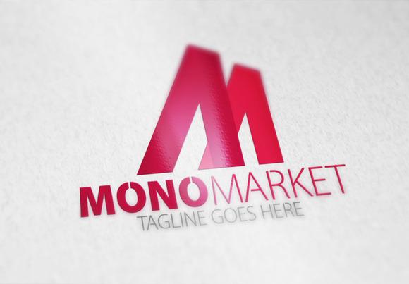 Mono Market M Letter Logo