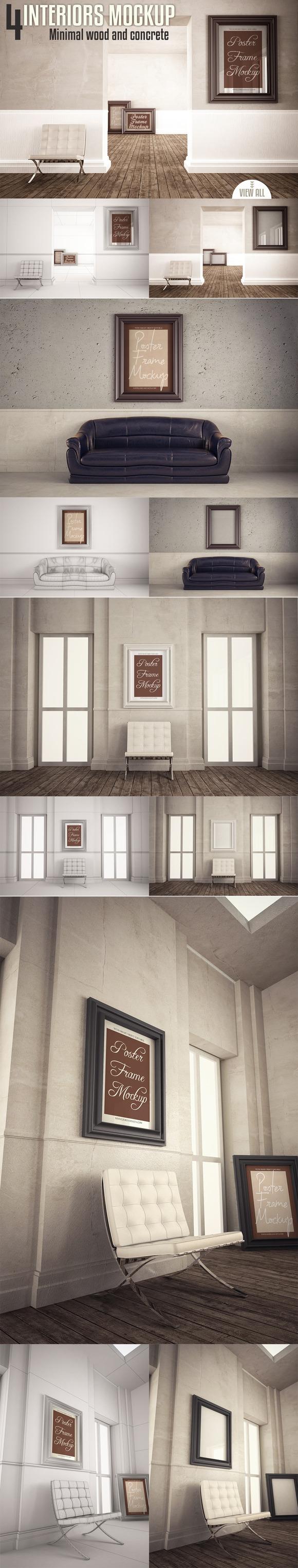 Interiors Mock-up Vol 4