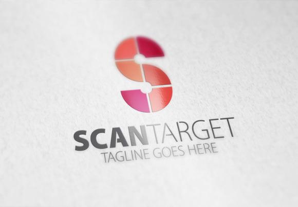 Scan Target S Letter Logo