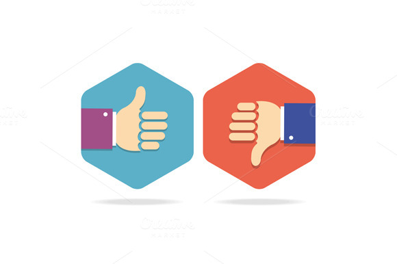 Thumbs Up Icons Set Vector