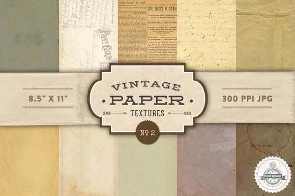 Vintage Paper Textures - No. 2 - Textures