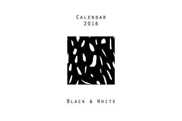 Calendar 2016 Black White