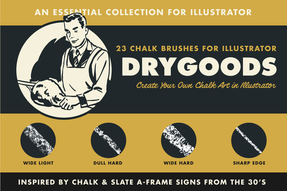 DryGoods Chalk Brushes For AI