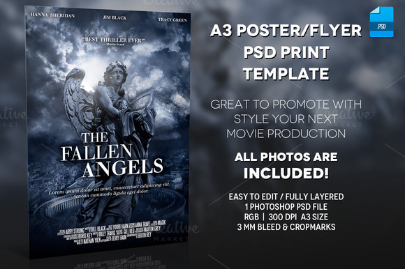A3 Movie Poster Print Template 2