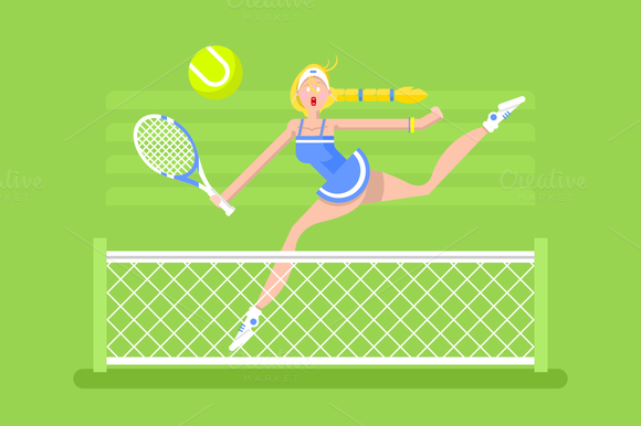 Character Woman Tennis Player