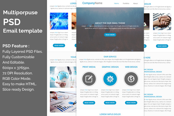 PSD Email Template E4